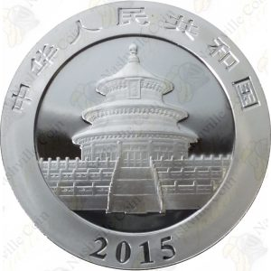 2015 China 1 oz .999 fine silver Panda - Uncirculated (in capsule)