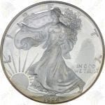 1994 Proof American Silver Eagle / with box and COA