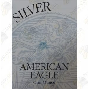 1999 Proof American Silver Eagle with box and COA