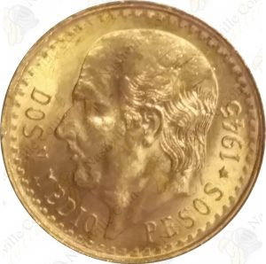 Mexico gold 2 pesos -- .0603 oz pure gold