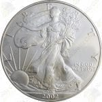 2002 American Silver Eagle -- 1 oz .999 fine silver