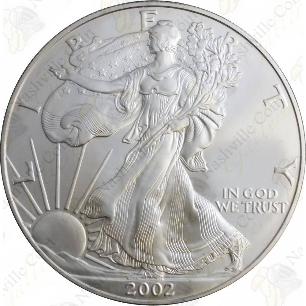 2002 $1 American Silver Eagle 1 oz Brilliant Uncirculated