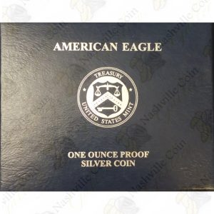 2011 Proof American Silver Eagle with box and COA