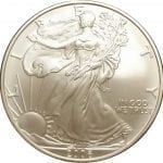 2006-W 1 oz American Silver Eagle - Burnished Uncirculat​ed