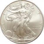 2008-W 1 oz American Silver Eagle - Burnished Uncirculated