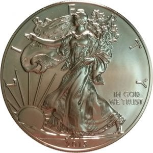 2013-W 1 oz American Silver Eagle - Burnished Uncirculat​ed