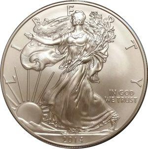 2014-W 1 oz American Silver Eagle - Burnished Uncirculated