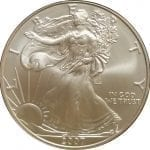2007-W 1 oz American Silver Eagle - Burnished Uncirculat​ed