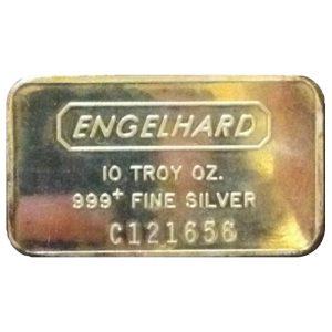 Engelhard 10 troy ounce .999 Fine Silver Bar