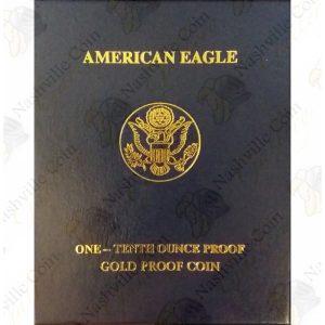 1/10 ounce Proof American Gold Eagle w/box and COA