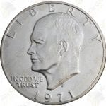 1971 40% silver Uncirculated Eisenhower Dollar