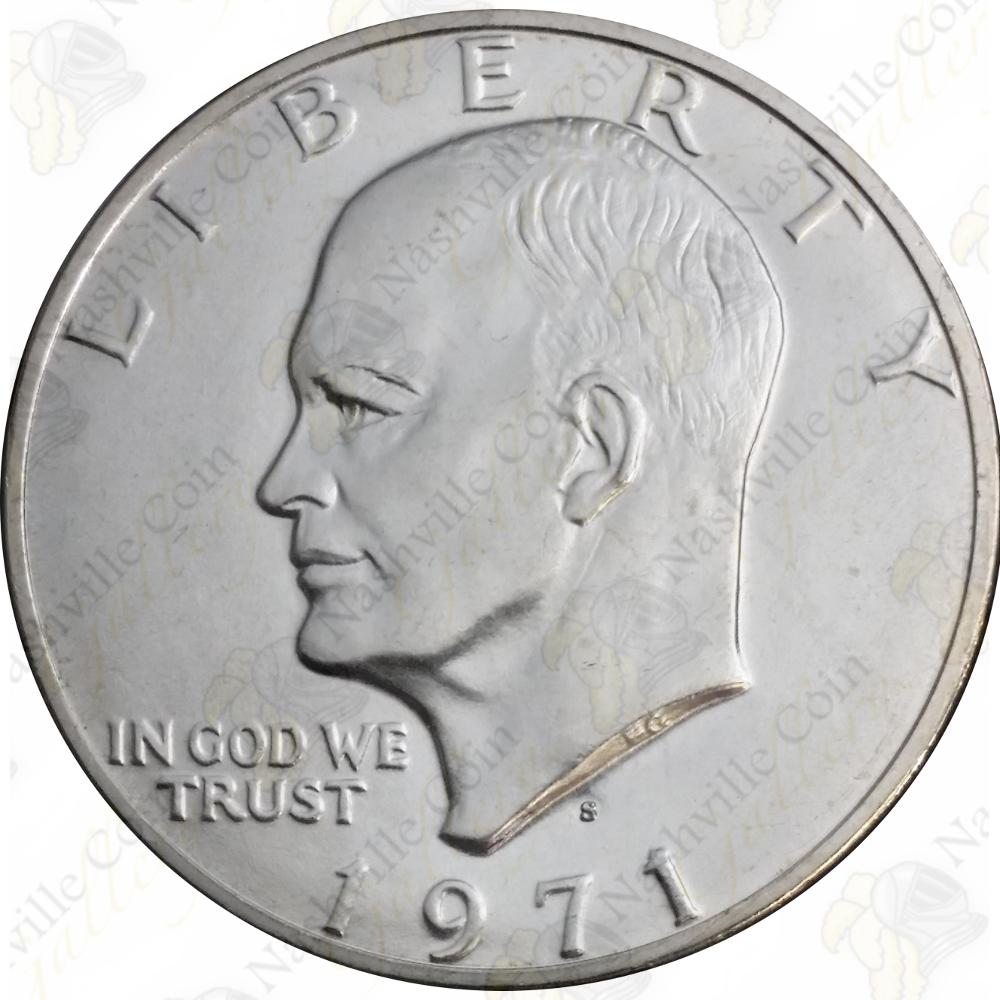 uncirculated 40 silver eisenhower dollar coin