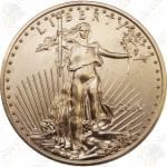 American Gold Eagle -- 1/4 oz pure gold (.917 fine gold)