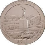 2011 Gettysburg 5 oz. ATB Silver Coin - BU