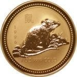 Australia Gold Lunar Series - 1996 Year of the Rat - 1 oz