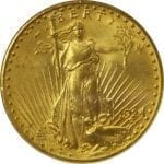 US $20 Gold St. Gaudens coin