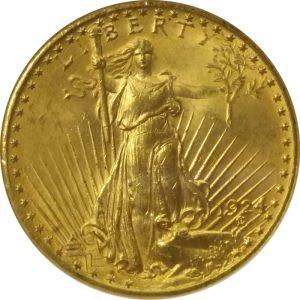 US $20 Gold St. Gaudens coin