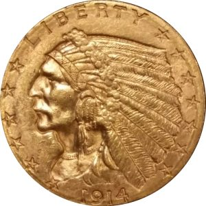 US $2.50 Indian Gold coin - common date