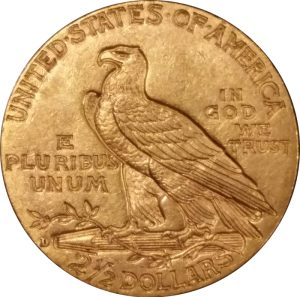 S $2.50 Indian Gold - common date