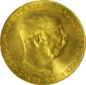 100 Coronas Gold Coin (Austria or Hungary) - .9802 oz Pure Gold