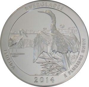 2014 Everglades 5 oz. ATB Silver Coin - Uncirculated
