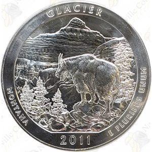 2011 America the Beautiful 5 oz .999 fine silver Glacier National Park