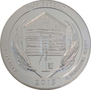 2015 Homestead 5 oz. ATB Silver Coin - Uncirculated