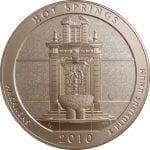 2010-P Hot Springs 5 oz. ATB Silver Coin - Specimen