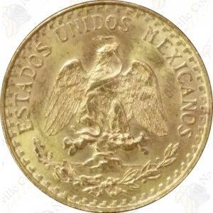 Mexico gold 2 pesos -- .0482 oz pure gold