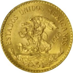 Mexican 20 Peso Gold Piece - .4823 oz Pure Gold