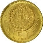 Mexican 20 Peso Gold coins - .4823 oz Pure Gold