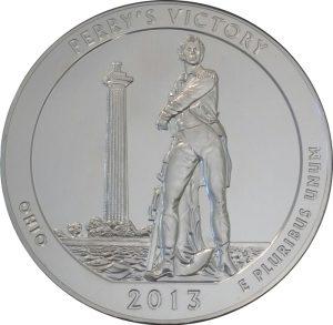 2013 Perry's Victory 5 oz. ATB Silver Coin - BU
