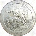 2010-P America the Beautiful 5 oz silver Yellowstone National Park (Specimen finish)