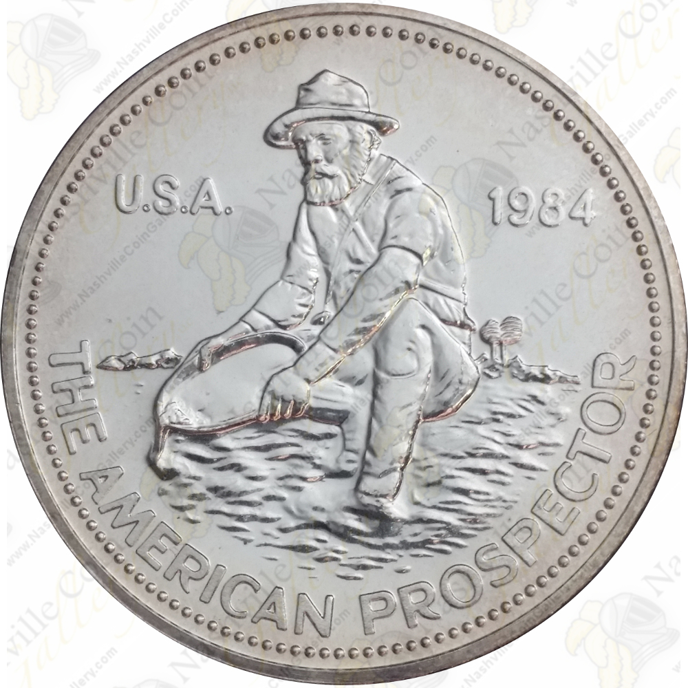 Engelhard Silver Prospector 1 Oz 999 Fine 1984 Eagle
