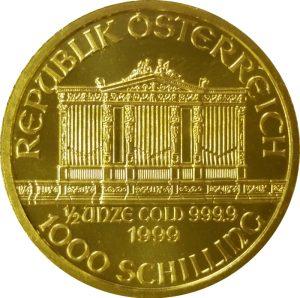 Austrian Philharmonic - 1/2 oz Pure Gold