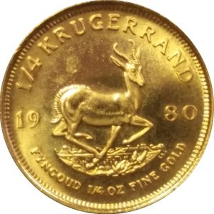 Krugerrand (South Africa) - 1/4 oz Pure Gold
