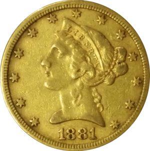 $5 US Liberty Gold Pieces