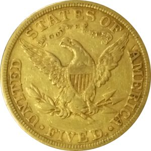 US $5 Gold Liberty - common date