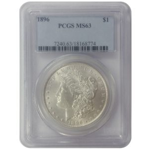 Pre-1921 Morgan Silver Dollar - MS63 (PCGS or NGC)