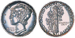 Mercury dime- rare coins- sell to Nashville Coin Gallery