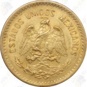 Mexico 10 pesos (circulated) -- .2411 oz pure gold