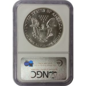 1987 American Silver Eagle - 1 oz - NGC MS69