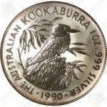 1990 Australia 1 oz silver Kookaburra -- 1 oz .999 fine silver