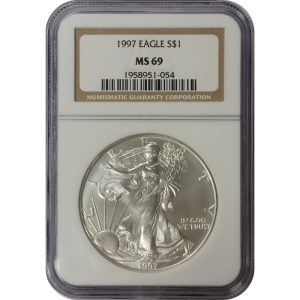 1997 American Silver Eagle - 1 oz - NGC MS69
