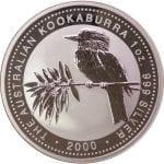 2000 Australian Kookaburra - 1 ounce .999 Fine Silver