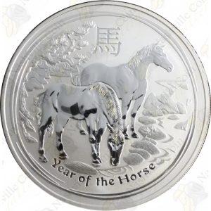 2014 Australia Lunar Series 1 oz silver Horse