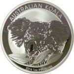 2014 Australian Koala - 1 ounce .999 Fine Silver