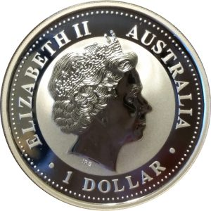 2001 Australian Kookaburra - 1 ounce .999 Fine Silver