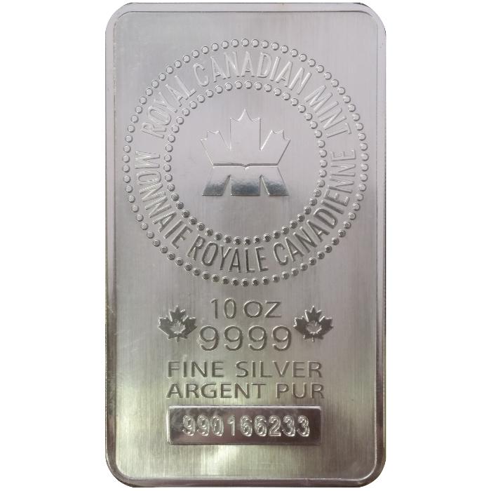 Generic 10 Oz 999 Fine Silver Bar Sku 60410