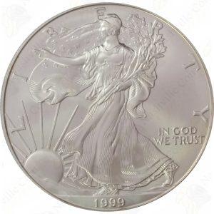 1999 American Silver Eagle -- BU -- 1 oz .999 fine silver